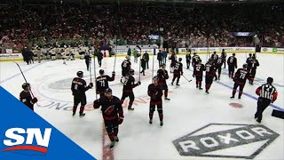 Hurricanes Give Fans Last Salute After Handshakes With Bruins