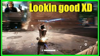 Star Wars Battlefront 2 - Finally got Rey's new outfit! | Games end quickly?
