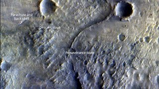 ExoMars images Perseverance in the Jezero Crater