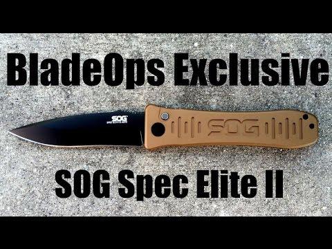 BladeOps Exclusive Desert Tan SOG Spec Elite II Auto