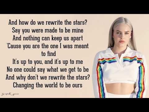 Rewrite the Stars - Anne-Marie & James Arthur (Lyrics)