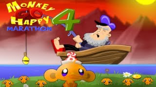 Monkey GO Happy Marathon 4 Walkthrough All Levels HD