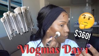 Vlogmas 2017 Day 1: Kylie Cosmetics Brush Set & Concealer Review