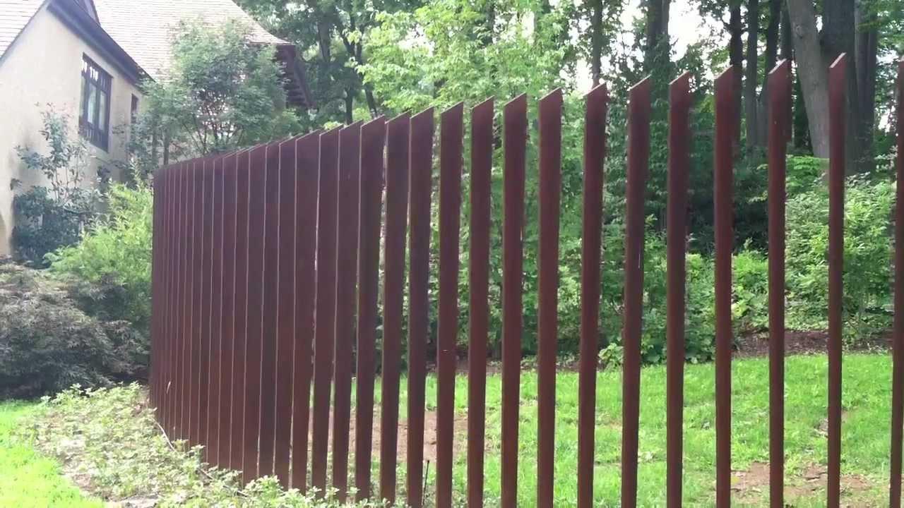 Cor Ten Cattails Sculptural Fence Youtube