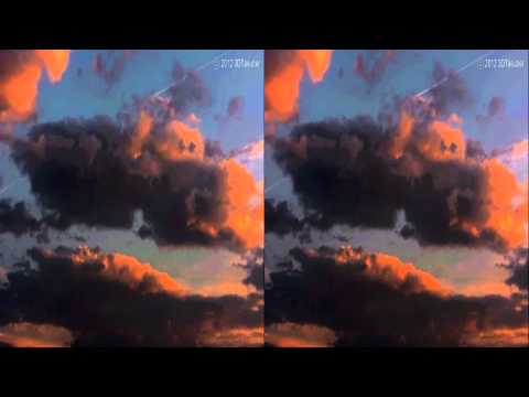 3D Video: clouds at sunrise in may