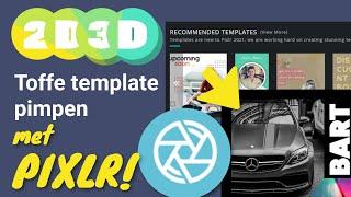 Template design pimpen in Pixlr