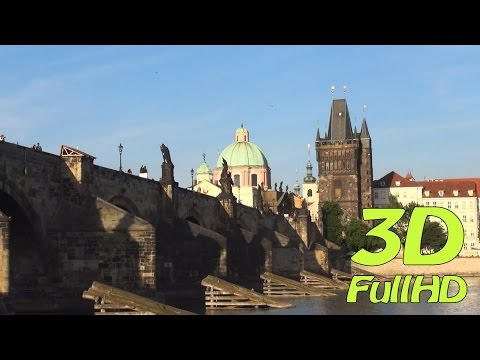 [3DHD] From Petrin Hill to Kampa Island, Prague, Czech Republic / Z Petřína na Kampě, Praha, Česko