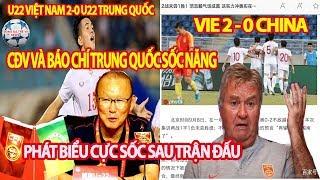 CĐV Và Báo Chí Trung Quốc Sốc Nặng Sau Khi U22 Trung Quốc Thua Tâm Phục U22 Viêt Nam 0-2,2HLV Nói Gì