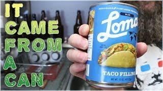 Vegan Taco Meat in a Can