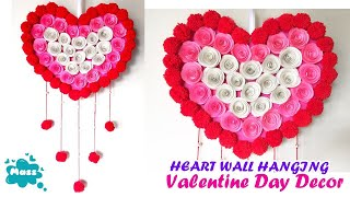 Diy Paper Heart Wall Hanging Easy Wall Decoration Ideas Paper Craft