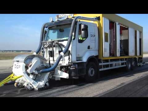 Runway Rubber Removal Part 1   Blastrac 2 45DTM