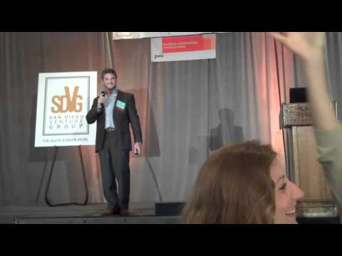 Steven speaking on TakeLessons at San Diego Venture Group Pitchfest