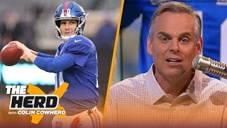 Colin reacts to Eli Manning retirement, Jimmy G being in SB proves Belichick right | NFL | THE HERD