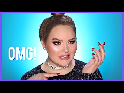 FULL FACE USING ONLY THE OPPOSITE HAND MAKEUP Challenge | NikkieTutorials