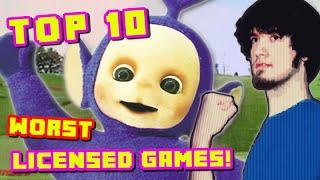 Top 10 WORST Licensed Games! - PBG