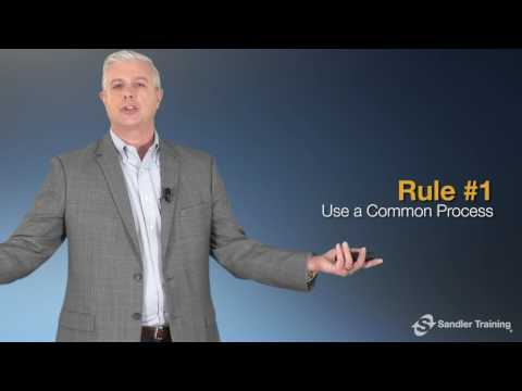 Rule #1: Use a Common Process - The Sandler Rules for Sales Leaders