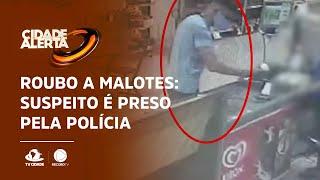 ROUBO A MALOTES: Suspeito é preso pela polícia