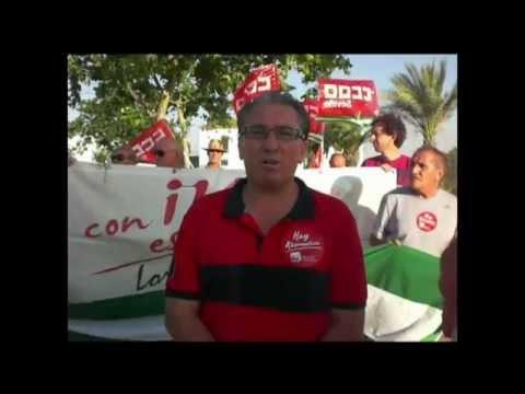 Acto reivindicativo de Izquierda Unida de Lora del Río en la Finca Guadalora