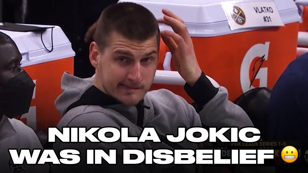 Watch Nikola Jokic's Bench Reaction During Game 2 Blowout