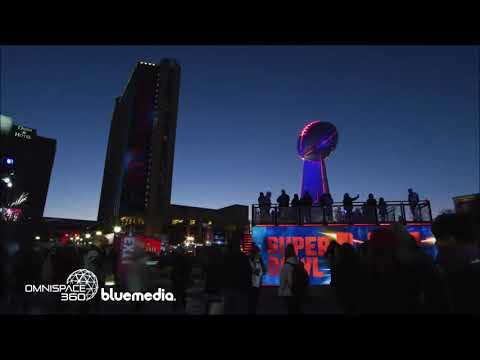Omnispace360 Projection Mapping Solutions - Super Bowl LIII in Atlanta