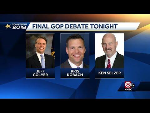 Final Kansas GOP gubernatorial debate set