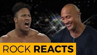 The Rock Reacts to His First WWE Match: 20 YEARS OF THE ROCK