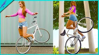 Her BIKE TRICKS will BLOW YOUR MIND!