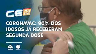CoronaVac: 90% dos idosos já receberam segunda dose do imunizante na capital