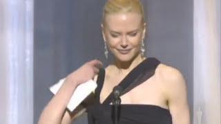 Nicole Kidman winning Best Actress