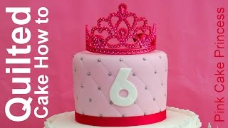 How to Make a Quilted Cake with a Ruler by Pink Cake Princess