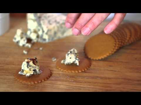 Spicy Ginger Moravian Cookies with Blue Cheese, Walnuts and Honey