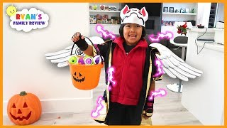 Ryan Trick or Treat for Halloween and Playing Games!!!!