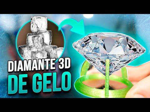 Imprimi um DIAMANTE 3D feito de GELO