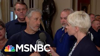 Jon Stewart Reacts After House Passes Permanent Funding For 9/11 Victims   Velshi & Ruhle   MSNBC