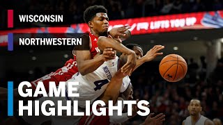 Highlights: Wisconsin at Northwestern | Davison Gets the Bounce in Badger Road Win | B1G Basketball