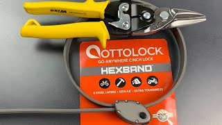 [892] Cut in Seconds: $75 Ottolock Hexband Bike Lock