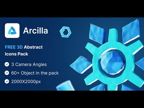 Arcilla | Free Abstract Objects 3D Icon Pack | Iqonic Design