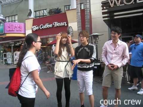 110910 Meeting f(x) Victoria + Amber [Undisclosed Footage] @ Universal City Walk, LA