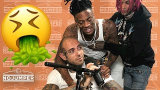 Boonk shows up WASTED to No Jumper, almost pukes on Adam22