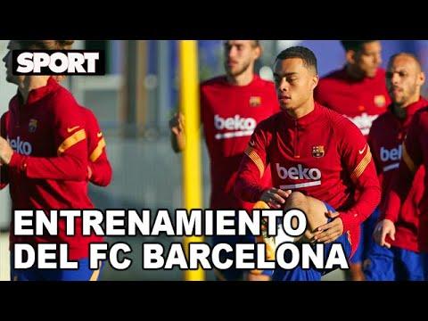 EL ENTRENAMIENTO DEL FC BARCELONA para preparar EL PARTIDO DE CHAMPIONS ANTE EL FERENCVAROS