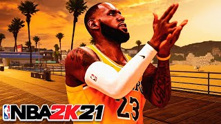 99 OVR LEBRON JAMES POST PLAYMAKER BUILD on NBA 2K21 CURRENT GEN...