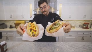 making and eating my first ever philly cheesesteak