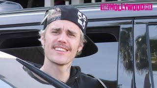 Justin Bieber Savagely Clowns TMZ When Asked About Yummy & Harry Styles With Hailey In Beverly Hills