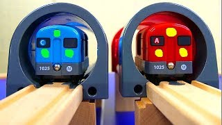 Subway Tunnel Red & Blue Train Toys 【Brio World】Wooden Thomas the Tank Engine Railway