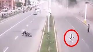 Massive Earthquakes Caught On Live TV & CCTV