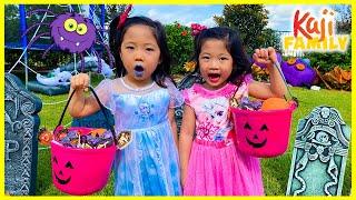 Halloween Trick or Treat Challenge Games!!!