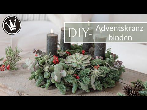 DIY-ADVENTSKRANZ selber machen | Adventskranz Trend 2019 | Adventskranz mit Sukkulente | GEWINNSPIEL