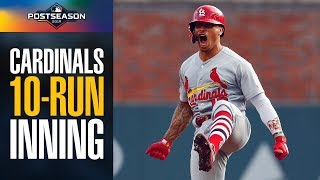 Cardinals score 10 (yes, TEN) runs in first inning of NLDS Game 5 vs. Braves | MLB Highlights