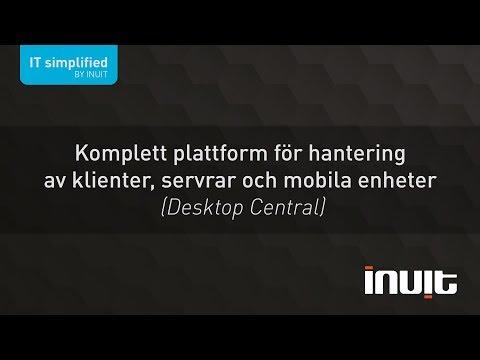 Desktop Central - en komplett plattform för hantering av klienter, servrar och mobila enheter