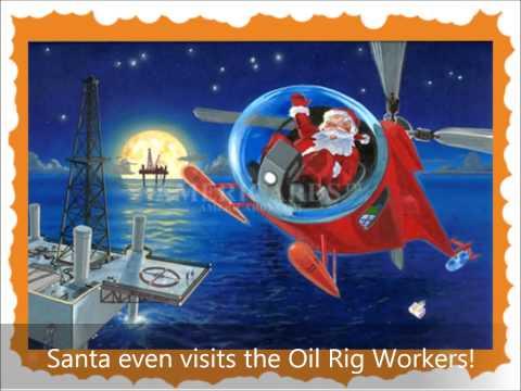 Construction Worker Santa at Christmas